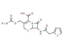trans-(±)-3-[(carbamoyloxy)methyl]-8-oxo-7-(2-thienylacetamido)-5-thia-1-azabicyclo[4.2.0]oct-2-ene-2-carboxylic acid