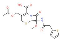 (6R)-3-(acetoxymethyl)-7-methoxy-8-oxo-7-(2-thienylacetamido)-5-thia-1-azabicyclo[4.2.0]oct-2-ene-2-carboxylic acid
