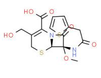 (6R-cis)-3-(hydroxymethyl)-7-methoxy-8-oxo-7-(2-thienylacetamido)-5-thia-1-azabicyclo[4.2.0]oct-2-ene-2-carboxylic acid