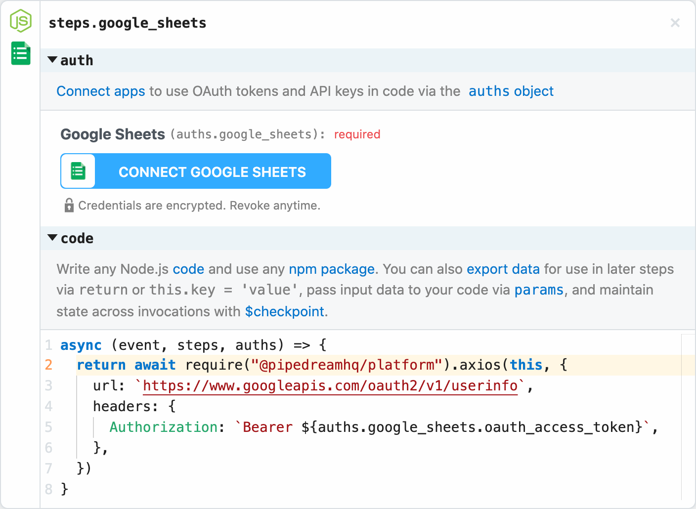 Managed authentication for 300+ OAuth and key-based APIs