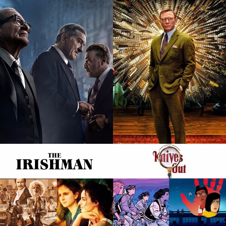 cover art for 51 The Irishman e Knives Out