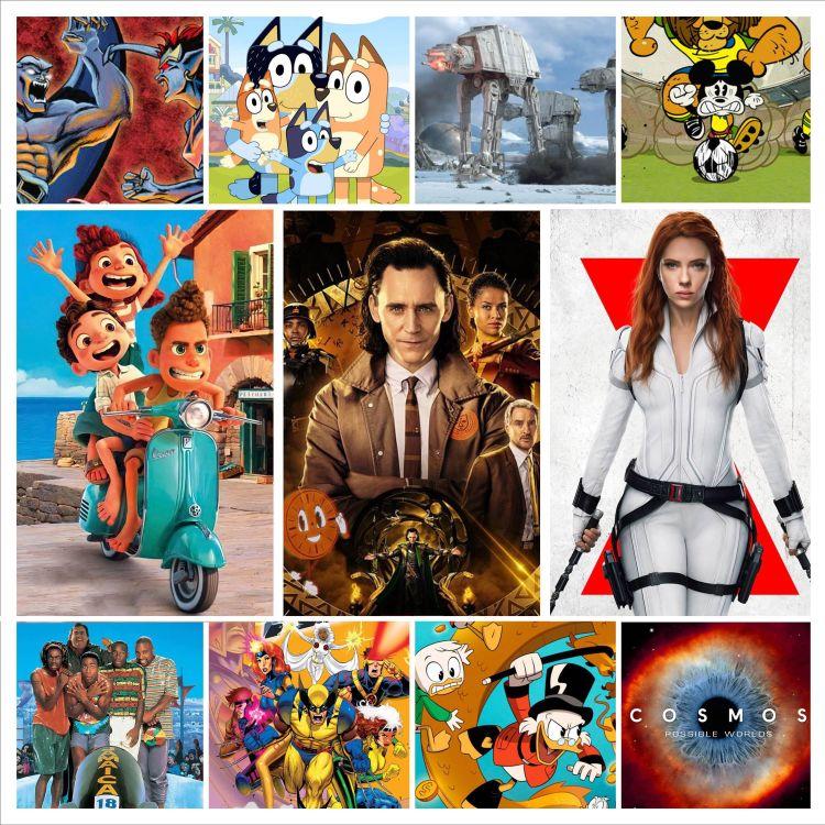 cover art for 78 Especial Streaming Disney Plus Luca Loki Black Widow