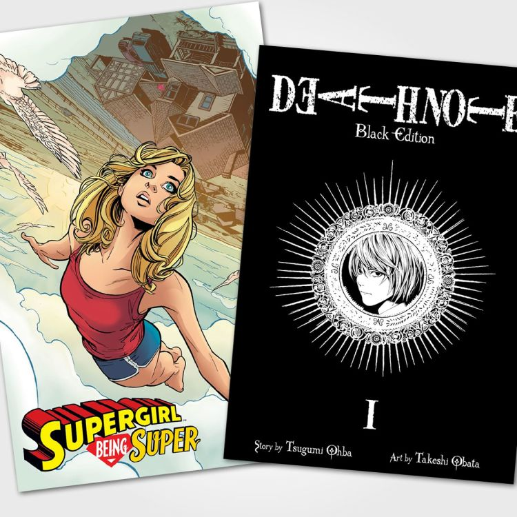 cover art for #49 - Supergirl: Being Super / Death Note: Black Edition