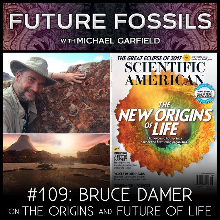 cover art for 109 - Bruce Damer on The Origins and Future of Life