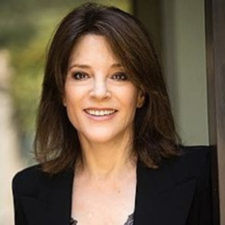 cover art for Marianne Williamson. understanding the course of miracles