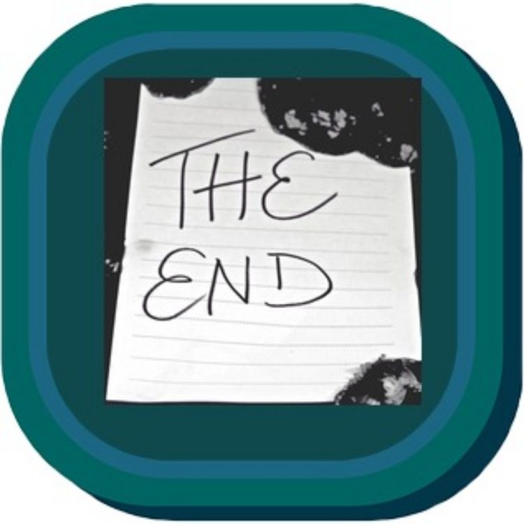 cover art for Time to write THE END