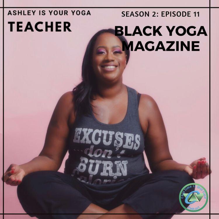 cover art for Ashley Adams and Black Yoga Magazine