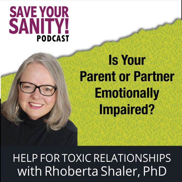 cover art for Is Your Parent or Partner Emotionally Impaired? :.