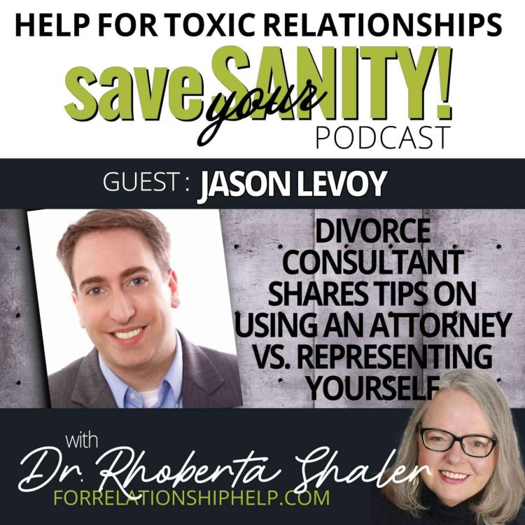cover art for Divorce Consultant Shares Tips On Using An Attorney vs. Representing Yourself   GUEST: Jason Levoy
