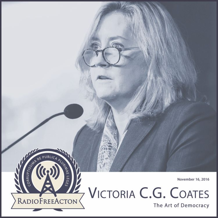 cover art for Victoria Coates on the art of democracy