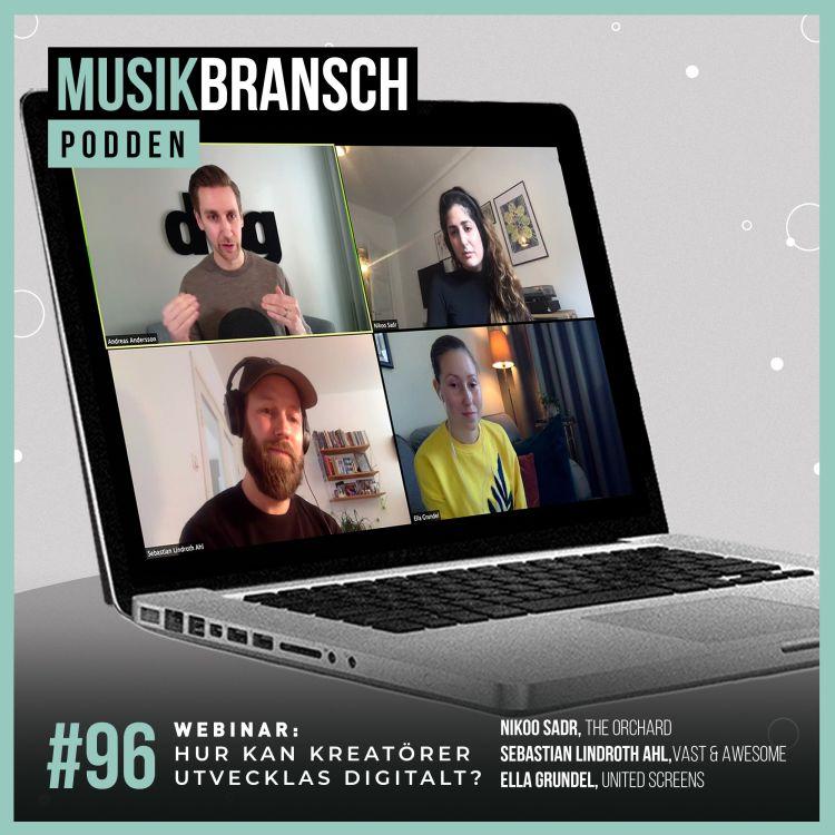 cover art for 96. Hur kan kreatörer utvecklas digitalt? Panelgäster: Nikoo Sadr, Sebastian Lindroth Ahl & Ella Grundel