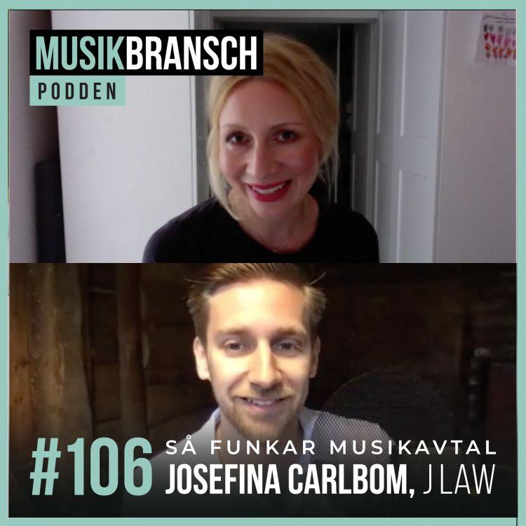 cover art for 106. Så funkar musikavtal - Josefina Carlbom, J Law