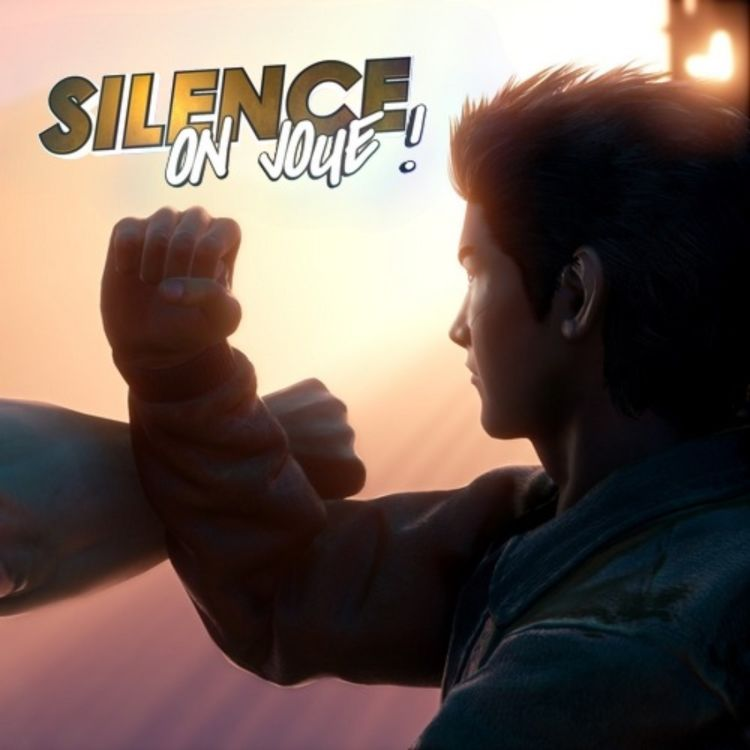 cover art for Silence on joue! «Death & Taxes», «Shenmue III», «The Blind Prophet», «Puppy Cross»