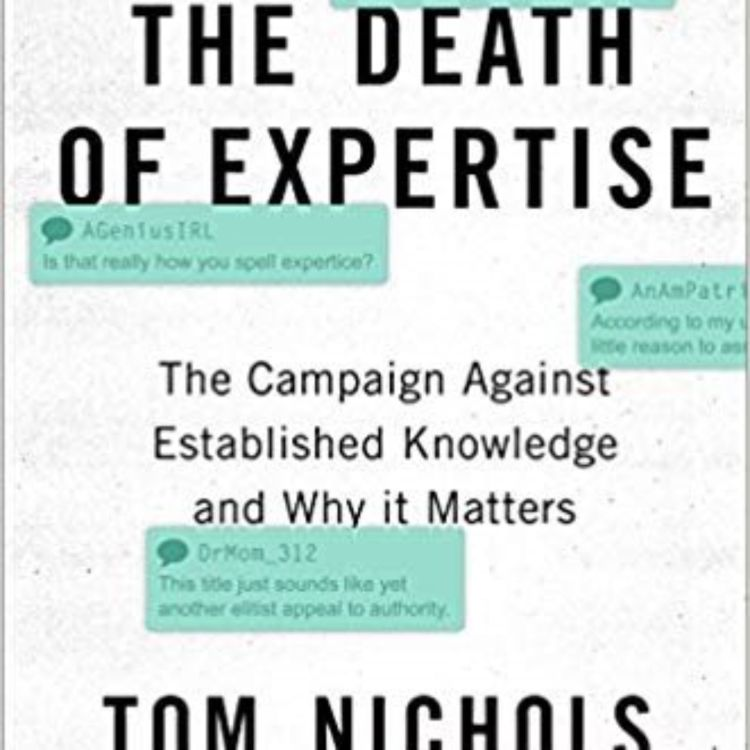 cover art for THE DEATH OF EXPERTISE - TOM NICHOLS