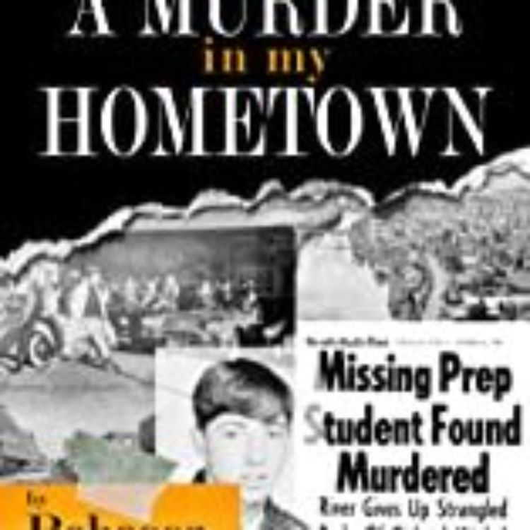 cover art for A MURDER IN MY HOMETOWN - REBECCA MORRIS
