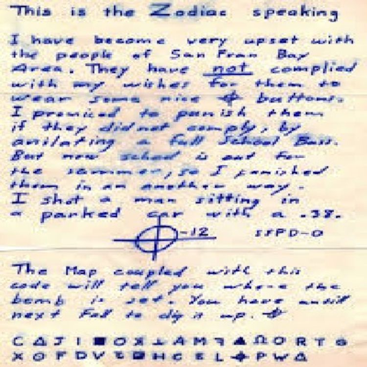 cover art for Zodiac Killer Letters