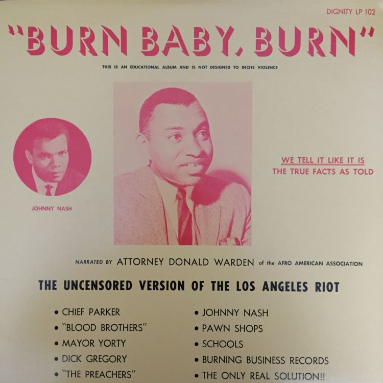 cover art for From the Archives 106: Attorney Donald Warden, Burn Baby, Burn