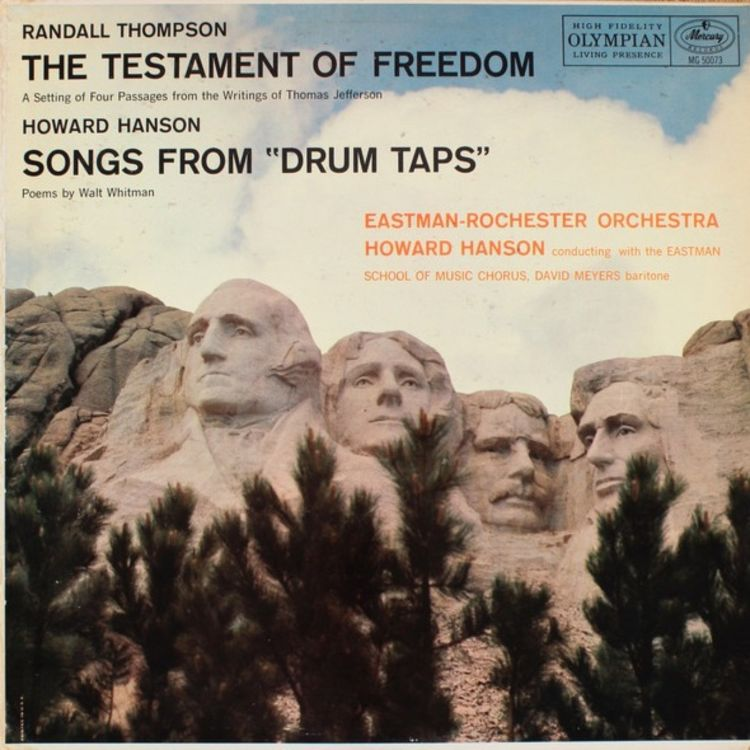 "cover art for From the Archives 108: The Testament Of Freedom & Songs From ""Drum Taps"" (1956)"
