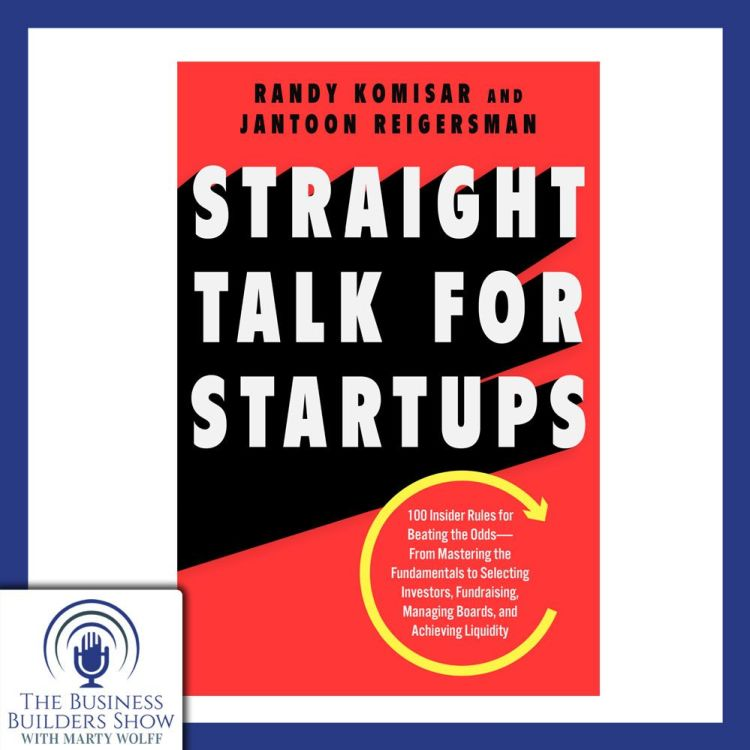 """cover art for """"Straight Talk For Startups"""" with Jantoon Reigersman"""