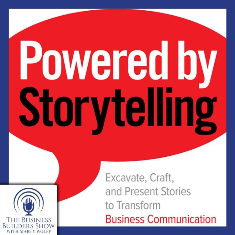 cover art for Powered by Storytelling with Murray Nossel, PhD