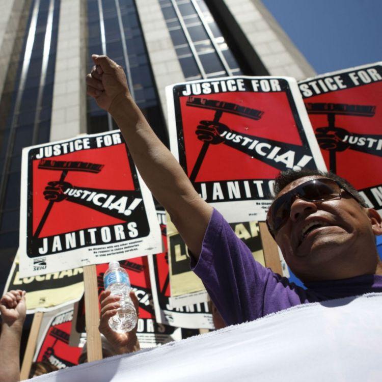 cover art for e.320 - SEIU Local 2 Demands #JusticeForJanitors! ft. Jorge Villatoro
