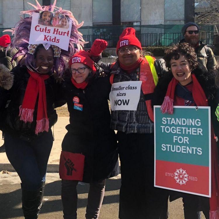 cover art for e. 421 - #CutsHurtKids: Ontario Public School Teachers Strike ft. Julius