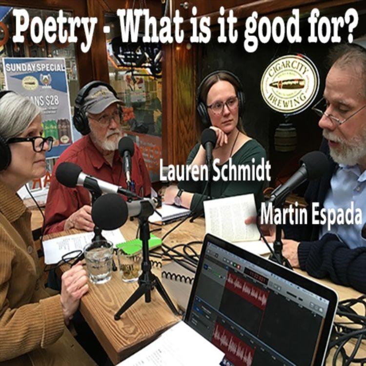 cover art for Poets Martin Espada & Lauren Schmidt