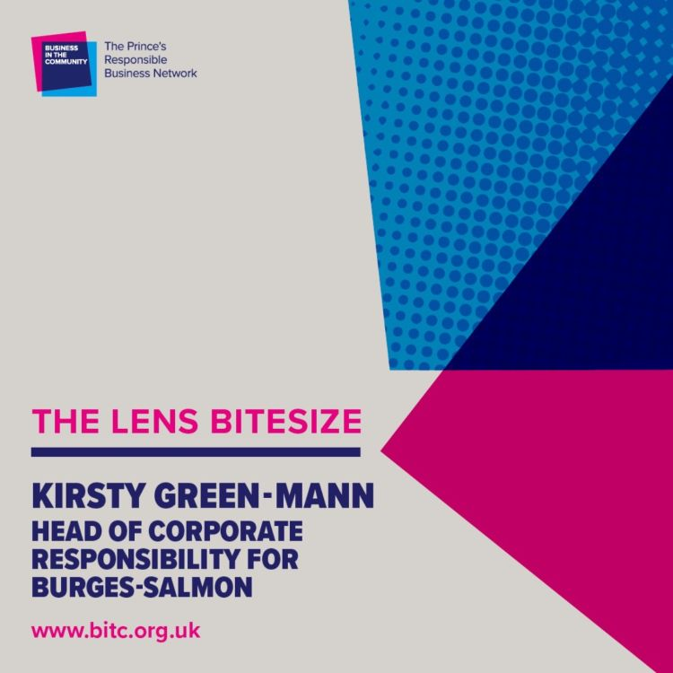 cover art for Bitesize: Kirsty Green-Mann Head of Corporate Responsibility at Burges Salmon