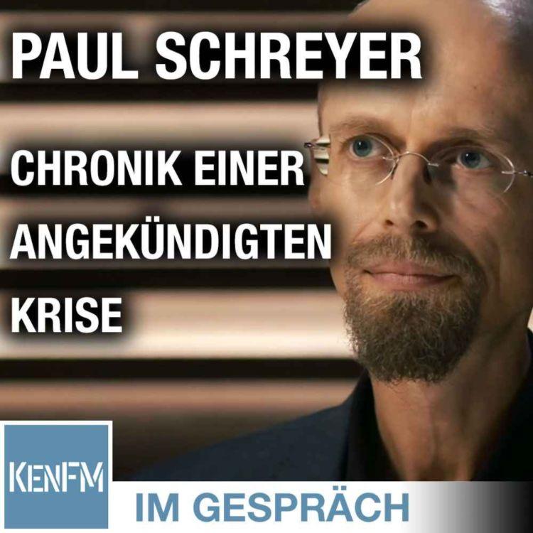 """cover art for Im Gespräch: Paul Schreyer (""""Chronik einer angekündigten Krise"""")"""