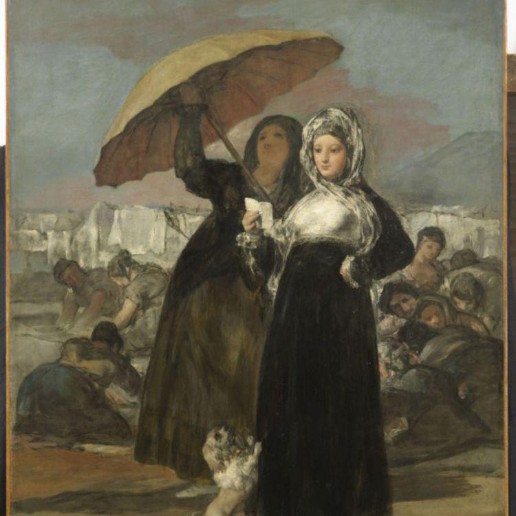 cover art for Les jeunes. Francisco de Goya