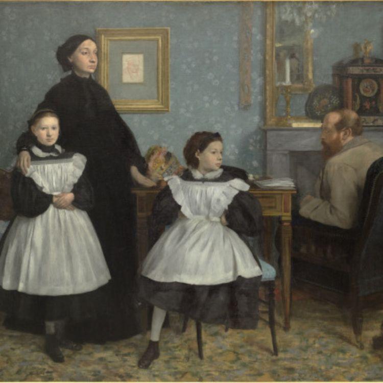 cover art for La famille Bellelli. Edgar Degas