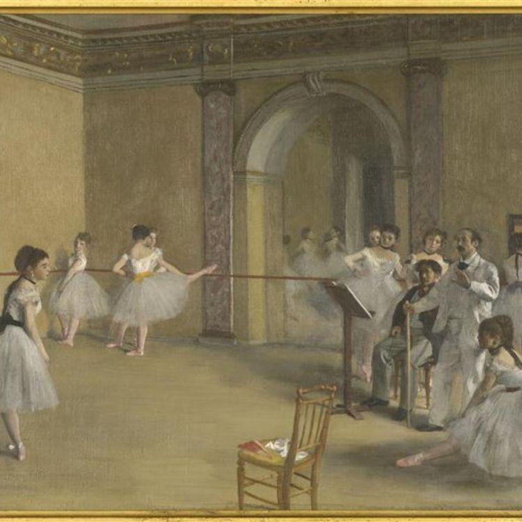 cover art for Le foyer de la danse à l'Opéra de la rue Le Peletier. Edgar Degas
