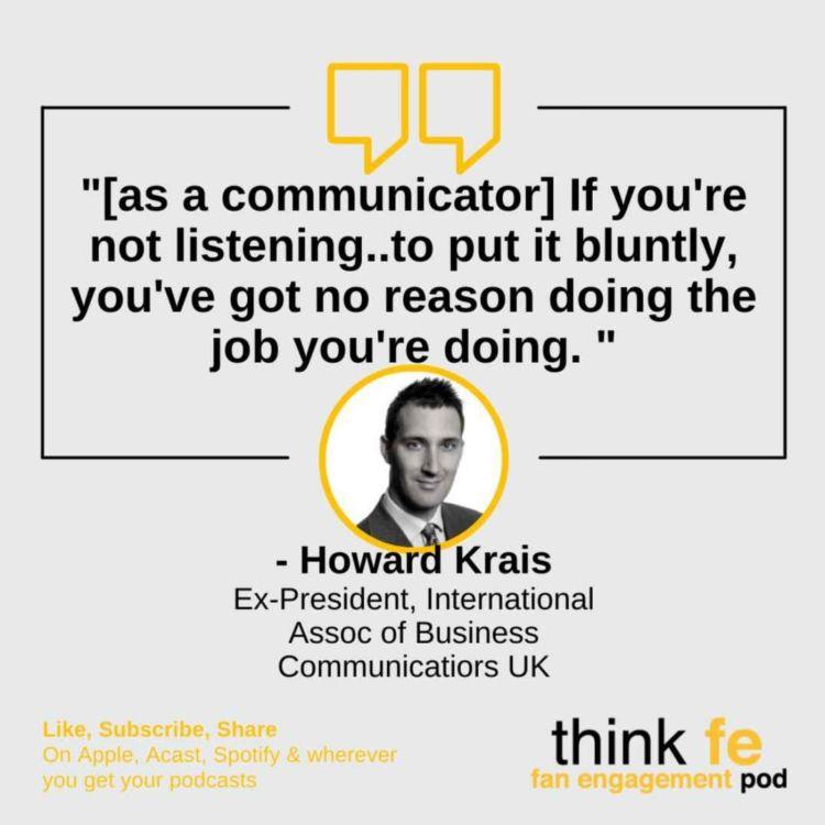 cover art for Leaders who listen: Howard Krais, ex-Intl Assoc of Business Communicators