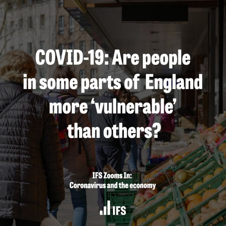 cover art for COVID-19: Are people in some parts of England more 'vulnerable' than others?