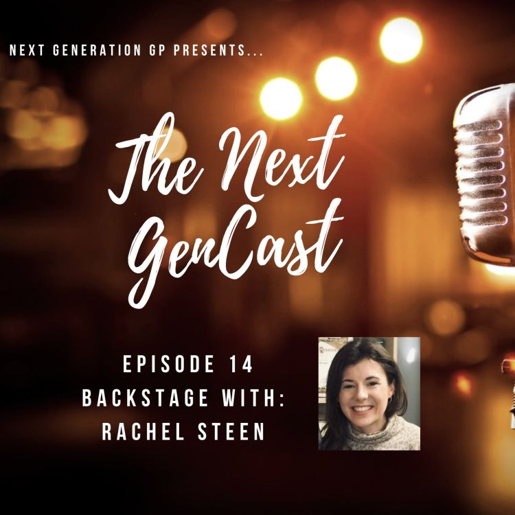 cover art for Episode 14. Backstage with Rachel Steen.