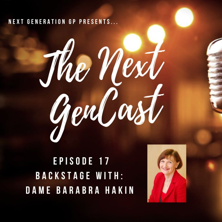 cover art for Episode 17. Backstage with: Dame Barbara Hakin