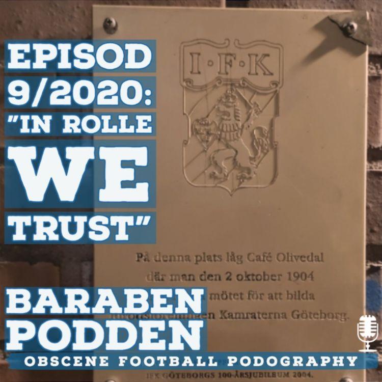 """cover art for BaraBen-Podden (9/2020): """"In Rolle we trust!"""""""