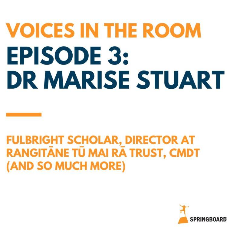 cover art for Episode Three: Dr Marise Stuart