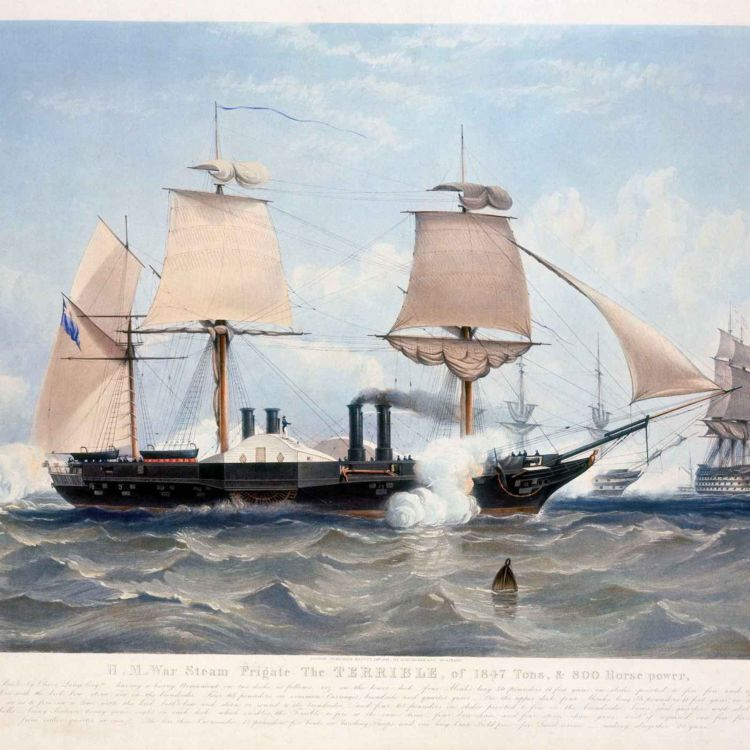 cover art for Land and sea: the global reach of Britain's armed forces in the nineteenth century