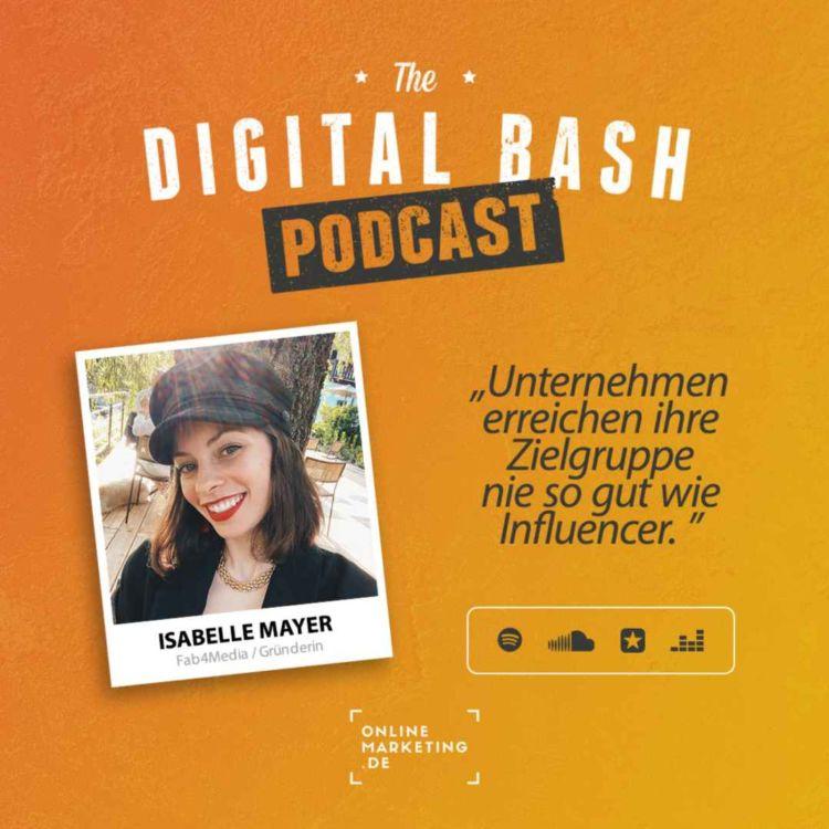 """cover art for """"Unternehmen erreichen ihre Zielgruppe nie so gut wie Influencer"""" - Isabelle Mayer"""