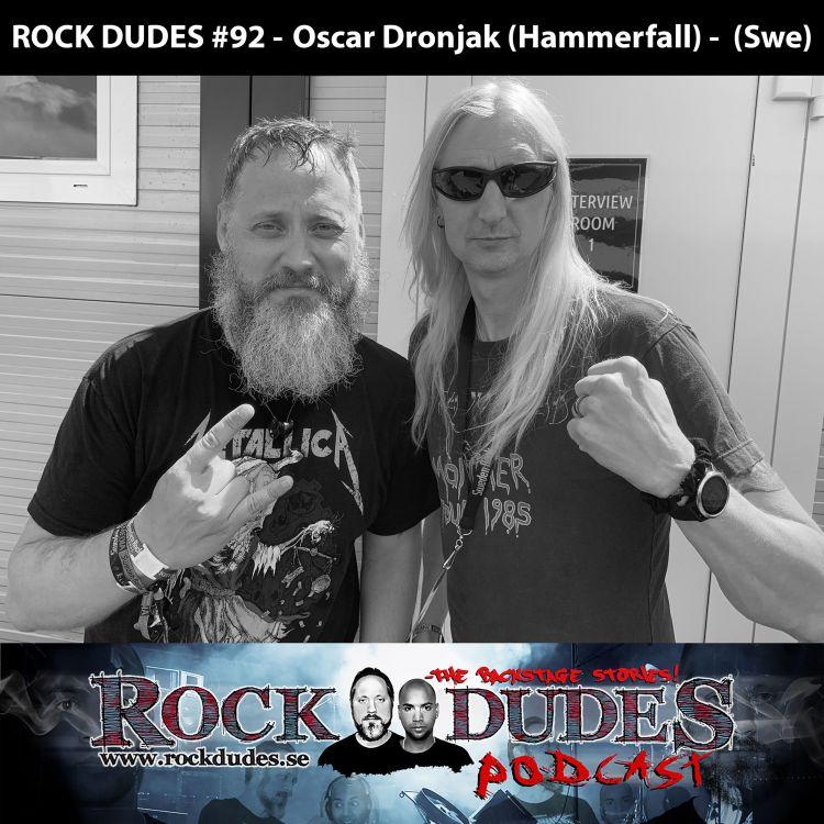 cover art for Rock Dudes #92 - Oscar Dronjak (Hammerfall) - (Swe)