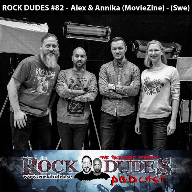 cover art for Rock Dudes #82 - MovieZine (Alexander Dunerfors, Annika Andersson) - (Swe)