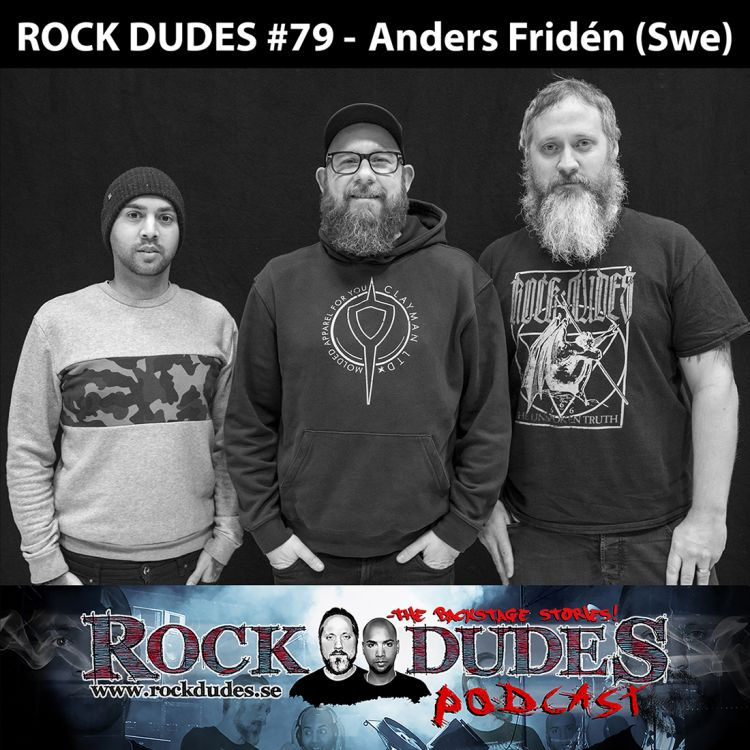 cover art for Rock Dudes #79 – Anders Fridén (In Flames) – (Swe)