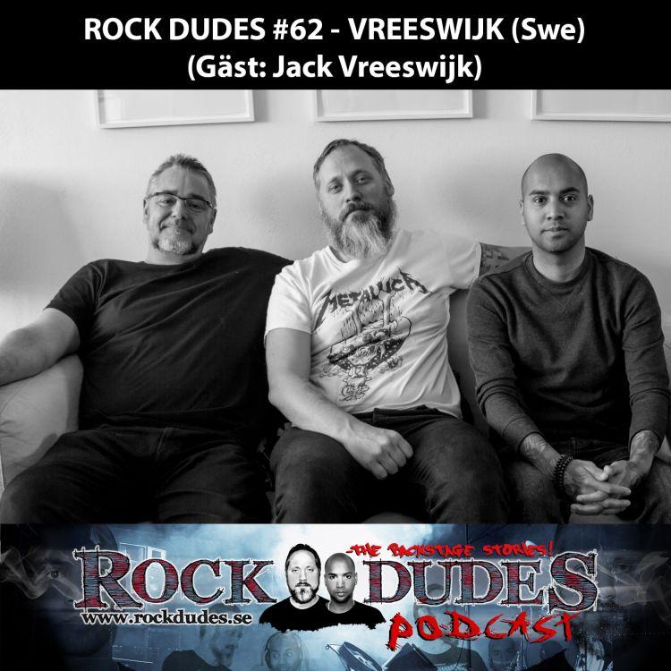 cover art for Rock Dudes #62 – VREESWIJK (Gäst: Jack Vreeswijk) – (Swe)