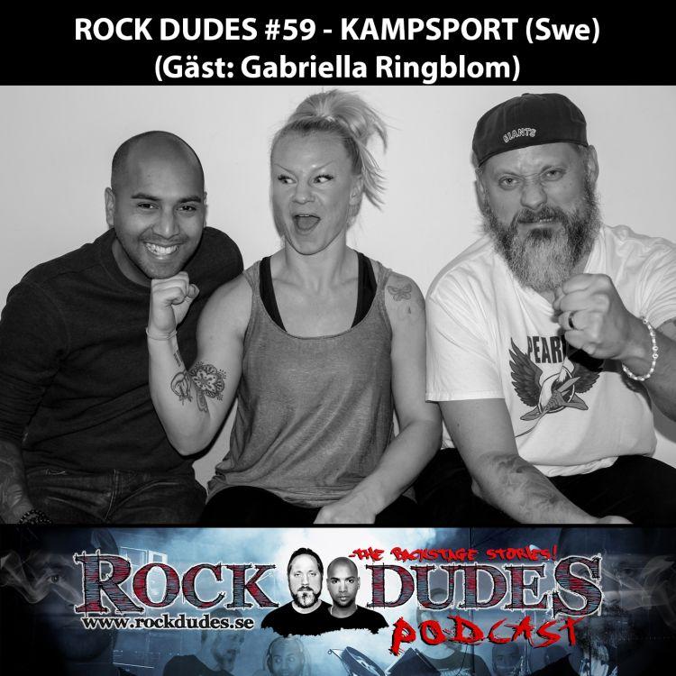 cover art for Rock Dudes #59 – KAMPSPORT (Gäst: Gabriella Ringblom) – (Swe)