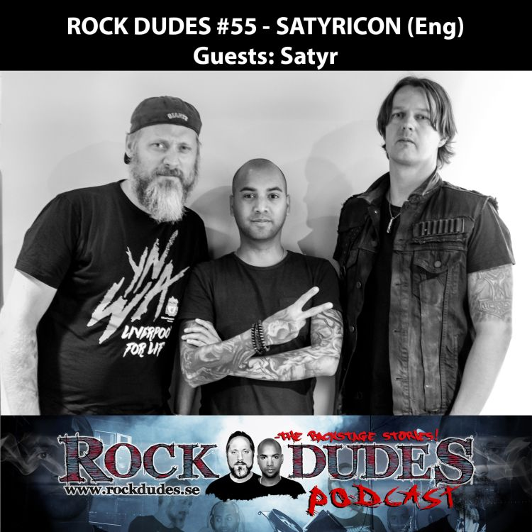 cover art for Rock Dudes #55 – SATYRICON (Guest: Satyr) – (Eng)