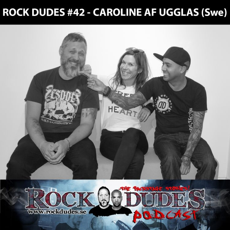 cover art for Rock Dudes #42 – Caroline af Ugglas – (Swe)