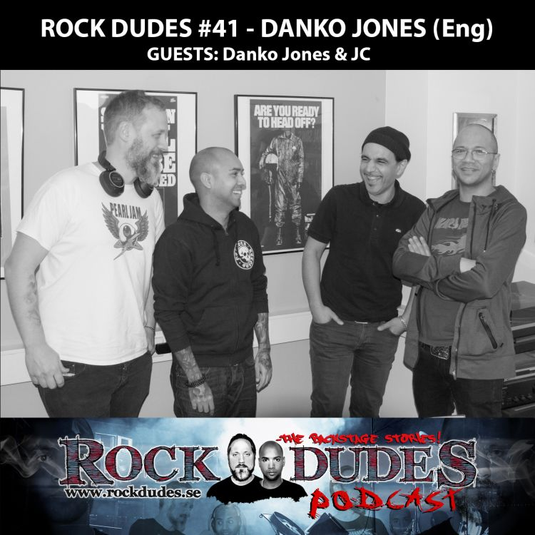 cover art for Rock Dudes #41 – Danko Jones (Guests: Danko Jones, JC) – (Eng)
