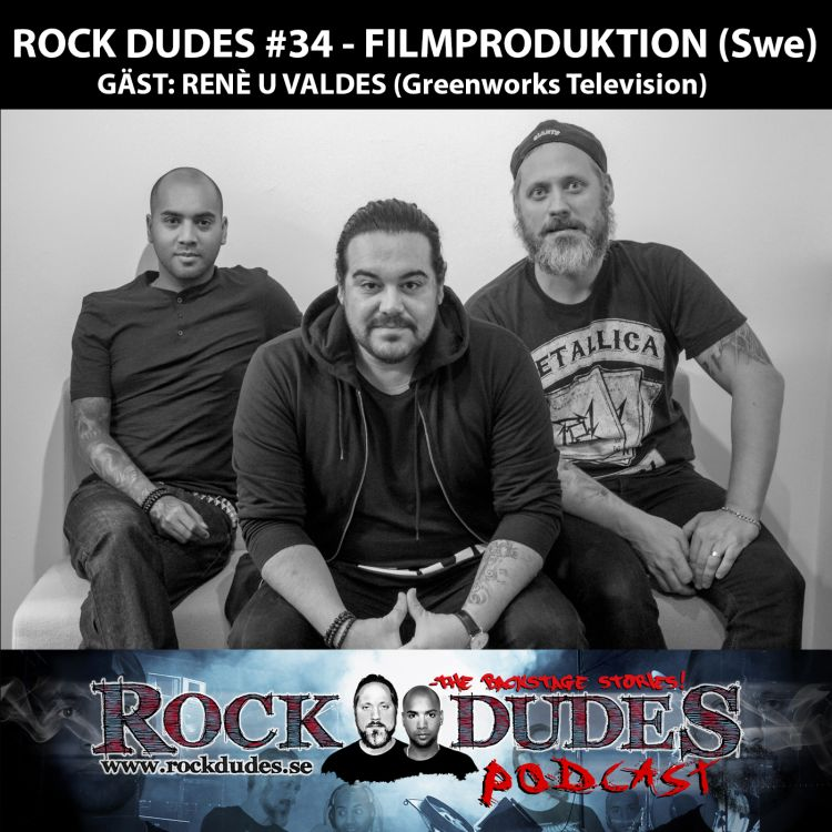 cover art for Rock Dudes #34 – FILMPRODUKTION (Gäst: René U Valdes / Greenworks Television) – (Swe)