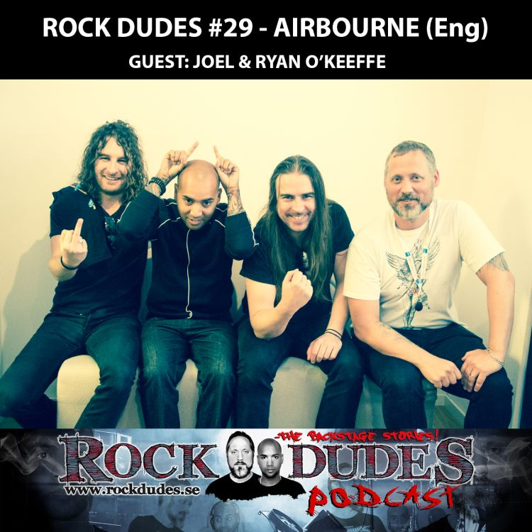 cover art for Rock Dudes #29 – Airbourne (Guests: Joel and Ryan O'Keeffe) – (Eng)